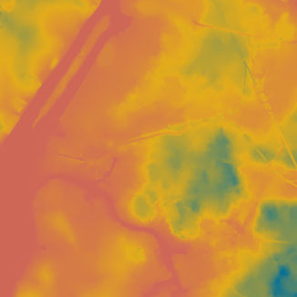 Digital Elevation Model of the Region of Interest, Credit: Adrien Rigobello